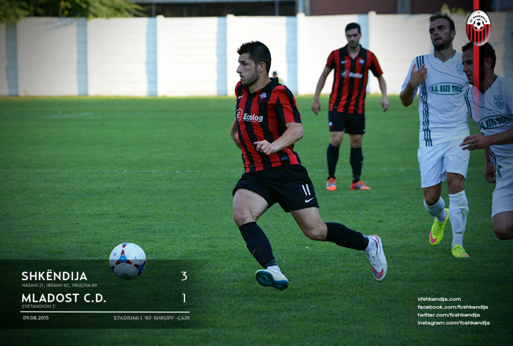 Besir Demiri at Shkendija vs. Mladost