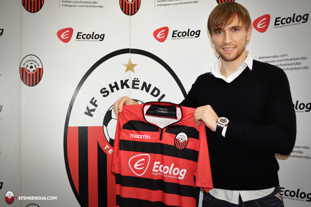 Abdurahimi on his promotion at Shkendija; photo: KF Shkendija