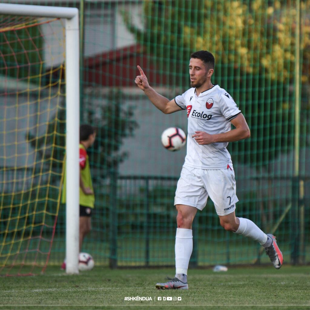 Besart Ibraimi scores the winner against Makedonija GP